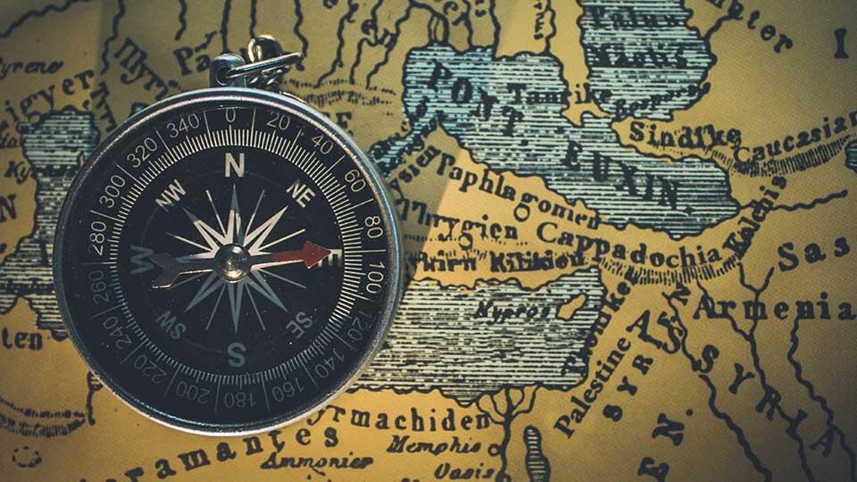 Unsplash compass on antique map courtesy Himesh Kumar Behera
