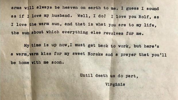 World War II love letter courtesy NBC New York